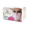 caixa mascara cirurgica descartavel rosa destak com 50 unidades