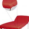 lencol descartavel vermelho destak com elastico tnt 40g com 5 unidades