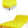 lencol descartavel amarelo destak com elastico tnt 40g com 5 unidades