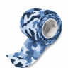 bandagem elastica antiderrapante camuflada azul 5x4 5 mt unidade