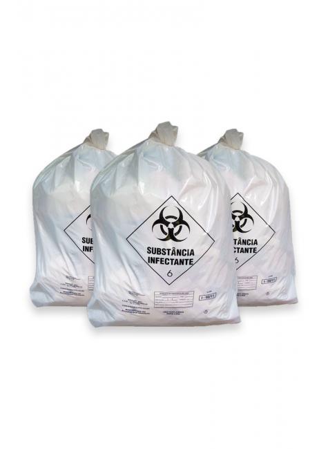 saco para lixo infectante branco