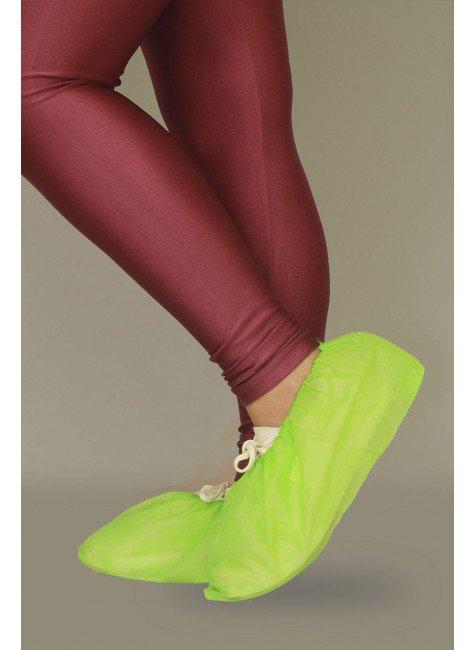 2 sapatilha prope descartavel verde limao destak com 50 unidades