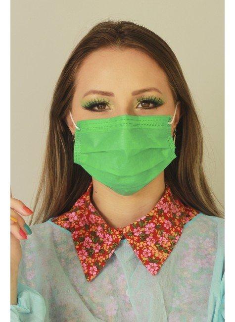 mascara descartavel verde destak com 50 unidades