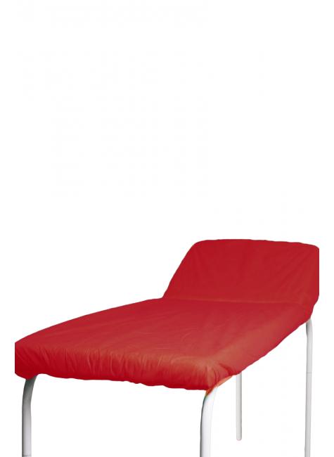 pct lencol descartavel vermelho destak com elastico tnt 40g com 5 unidades