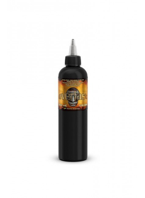 tinta para tatuagem tribal black everlast 240 ml 1