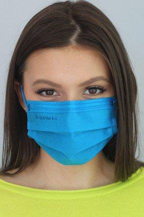 mascara descartavel azul royal com elastico color destak com 50 unidades 3 copiar