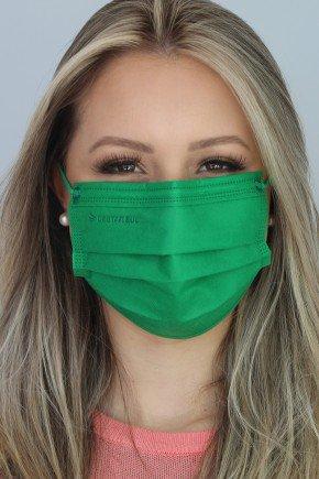 mascara descartavel verde com elastico color destak com 50 unidades 4