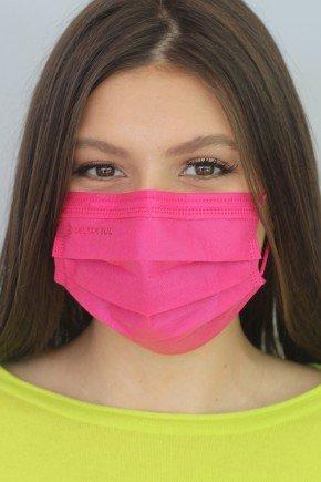 mascara descartavel new pink com elastico color destak com 50 unidades 5