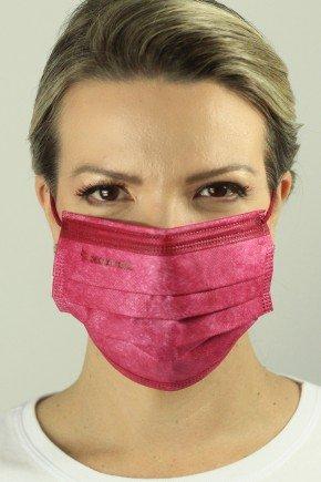 mascara descartavel cirurgica marsala com elastico color destak com 50 unidades 13